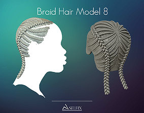 3D print model Braid Hairstyle 08