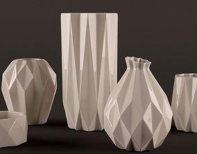 Origami vases 3D