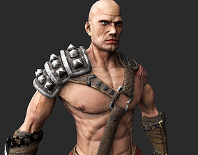 Barbarian-model 3D asset