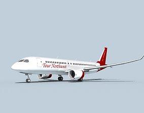 3D model Bombardier CS100 Tour Northwest