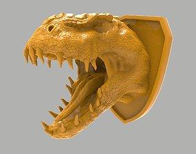 3D print model Dinosaur head wall decoration predator