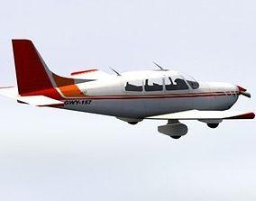 Piper Cherokee Light Aircraft 3D model