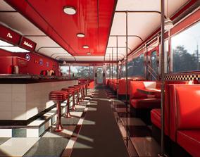 realtime Modular Vintage American Diner -Interactable- 2