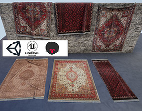 persian Carpets Low poly PBR game ready 3D model