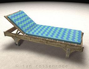 Rustic Beach Recliner 3D model