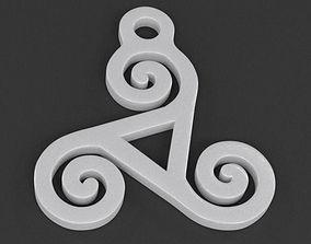 Triskelion Pendant 04 3D print model