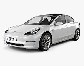 Tesla Model 3 2018 standard 3D