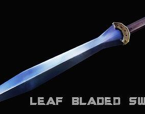 3D model realtime Leaf - Bladed Sword