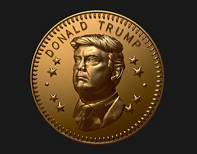 Donald Trump coin ready to 3D print