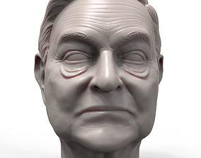 George Soros 3D printable portrait sculpture