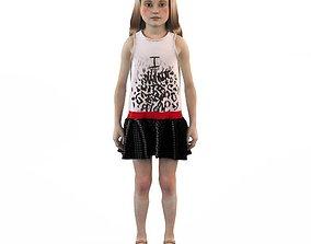 Girl dress t shirt skirt Baby clothes 3D toddler