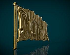 3D print model Turkish Flag