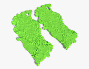 3D model scanned Turkey Terrain high and low