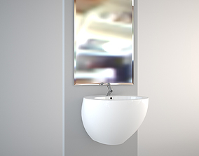3D model Wall hung Egg Pod wash-basin