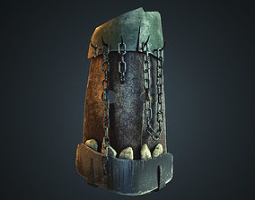 3D model Mask with chain