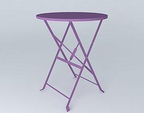 Purple table CONFETTI 3D model