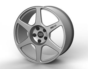 Mitsubishi Evo 8 Enkei Wheel 3D model sport