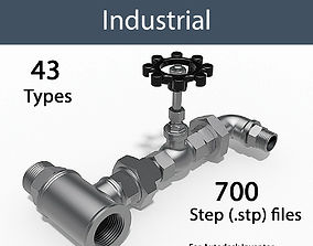 3D model BSP THREAD - VALVES AND FITTINGS INDUSTRIAL - 1