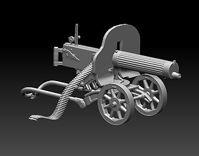 Maxim machine gun 3D print model