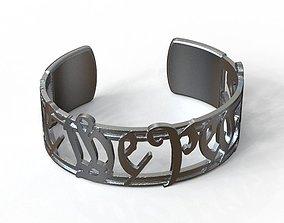 3D print model We The People Bracelet