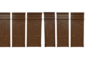 3D model Classic wooden door 06