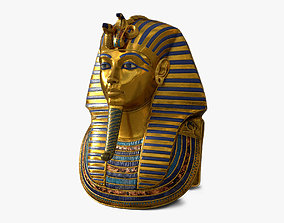 3D model statue Tutankhamun Mask