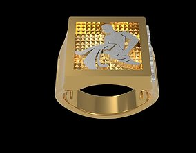 3D printable model Zodiac AQUARIUS Ring