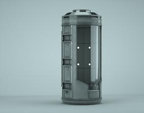 3D PBR Scifi pod