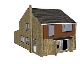 Small English style detached house 3D model