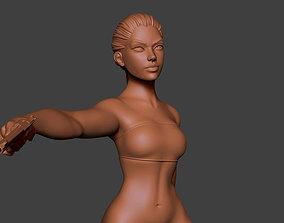 Woman Gun 3D print model miniature