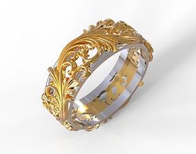 Pattern wedding ring 3D printable model