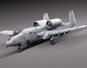 3D A-10 Thunderbolt Fairchild Republic