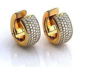 Earrings BS051 3D printable model joia
