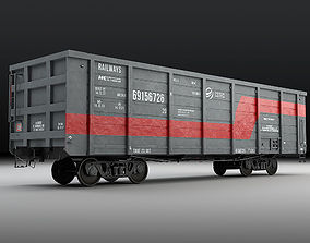 Railway carriage 3D