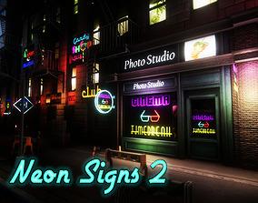 3D model Neon Signs 2 UNITY