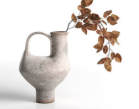 Pitcher with Dried Leaves 3D
