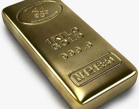 Realistic Gold bar 3D model