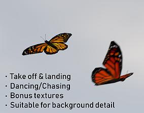 3D asset Background Butterflies Animated