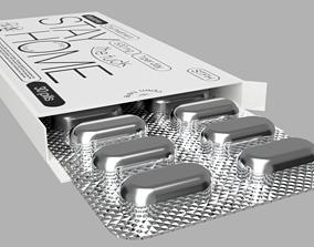 3D model medicine tablet