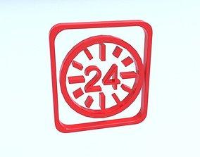 Logo 24 3D model