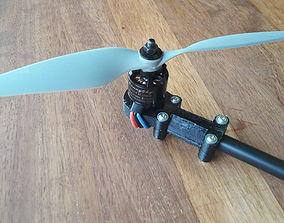 12mm round arm motor mount 3D print model