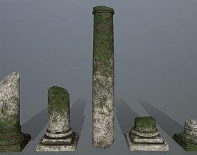 broken pillar column 3D model