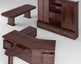 Mahogany executive director ofice furniture 3D