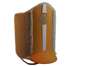 Band Director Hat 3D model