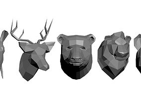 Animal models low-poly