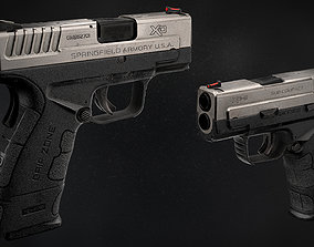 Springfield XD Mod2 Game Ready Low Poly Model 3D asset