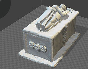 3D print model ANCIENT MEDIEVAL GRAVE SHAPED BOX
