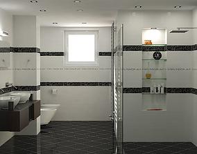 3D Photorealistic Bathroom Scene 01