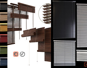 WOODand PVC Blinds 3D model