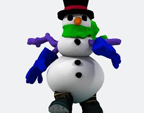 1-Snowman solid 3D print model